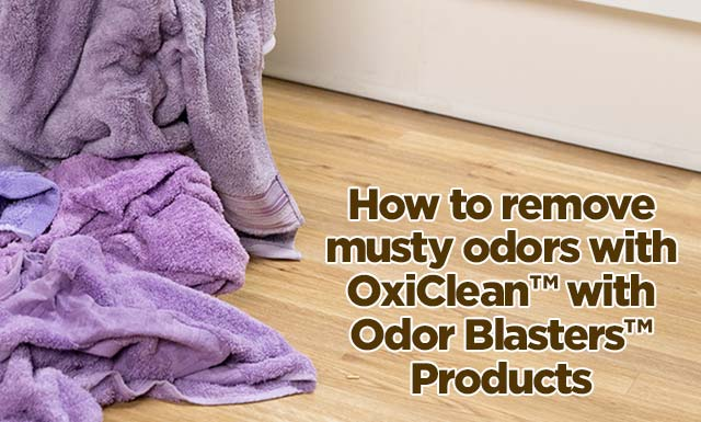 How To Get Mildew Smell Out Of Clothes | OxiClean™ Stain
