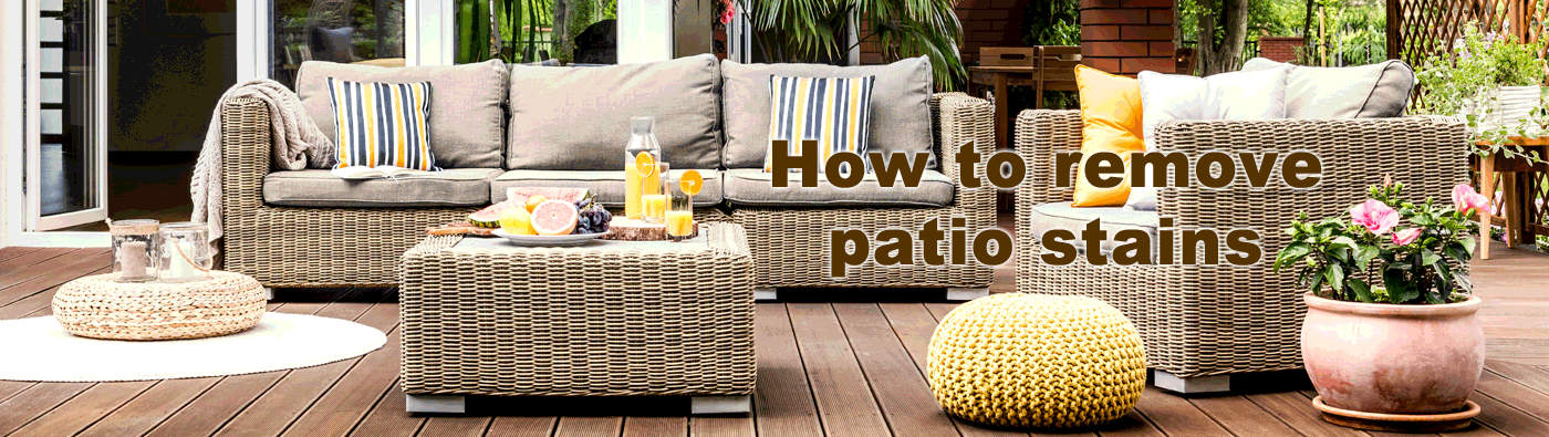 Remove Patio Stains