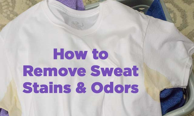 sweat stains