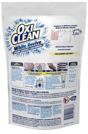 Laundry Whitener Packs Oxiclean White Revive Paks