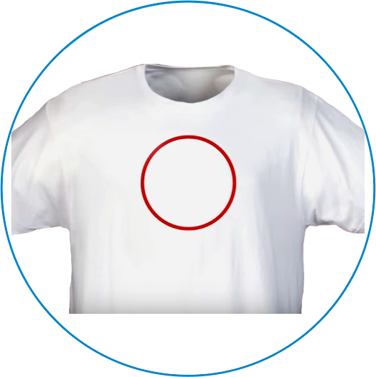 White Revive shirt after