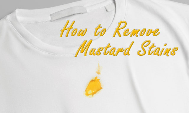 How to Remove Mustard Stains