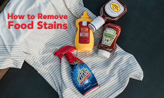 How to remove food stains with OxiClean.