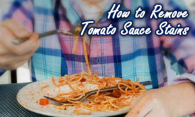 How to remove tomato sauce stains with OxiClean.